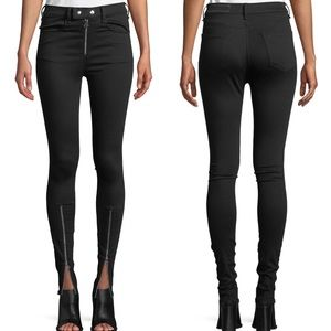 Rag & Bone | 26 Isabel Jean in Black Zipper skinny